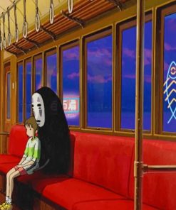 Faceless And Chihiro Spirited Away paint by numbers