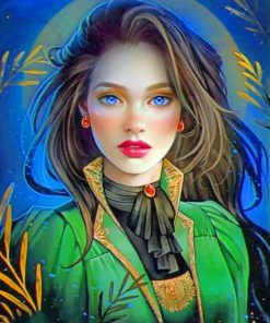 Fantastic Beautiful Woman paint by numbers