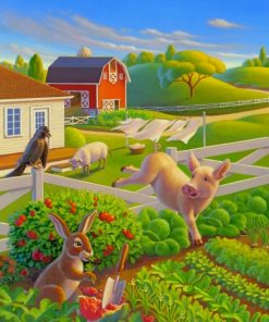 The Happy Farm Robin Moline paint by numbers