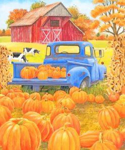 Fall Season Farm paint by numbers