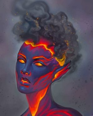 Female Fire paint by numbers