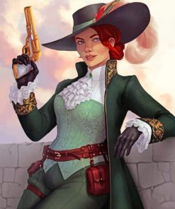 Female Victorian Character paint by numbers