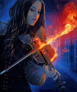 Fire Violinist Paint by numbers