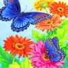 Flowers And Butterflies Paint by numbers