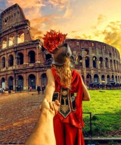 Follow me To Colosseum Italy paint by numbers