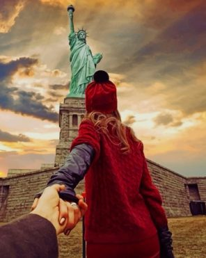 Follow Me To The Statue Of Liberty Paint by numbers