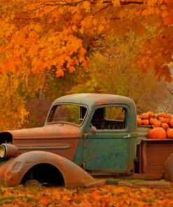 Ford In Autumn paint by numbers