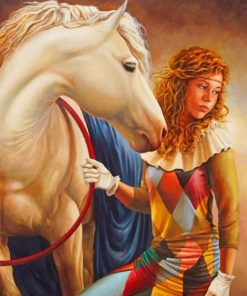 Girl And Horse paint by numbers