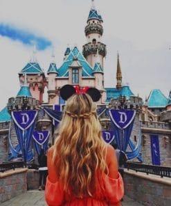 Girl In Disneyland Resort California paint by numbers