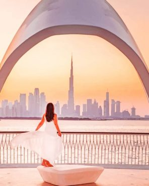 Girl In Dubai Paint by numbers