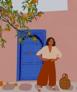 Girl In Morocco Paint by numbers