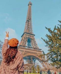 Girl In Paris Europe paint by numbers