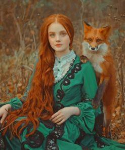 Girl With Fox paint by numbers