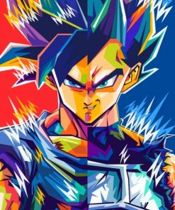 Powerful Goku Pop Art paint by numbers