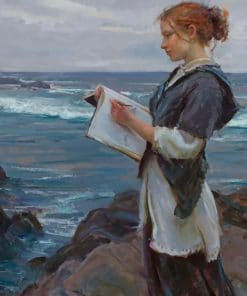 Gorgeous Nerd On The Beach paint by numbers
