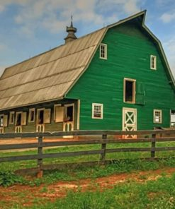 Green Barn Paint by numbers