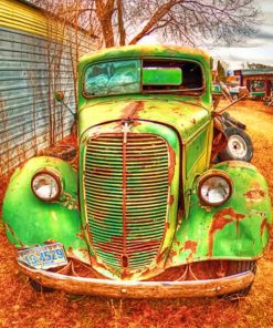 Green Farm Truck paint by numbers