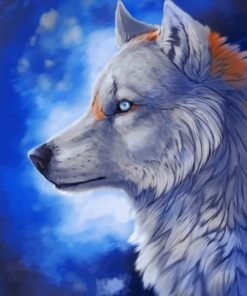 Grey Wolf paint by numbers