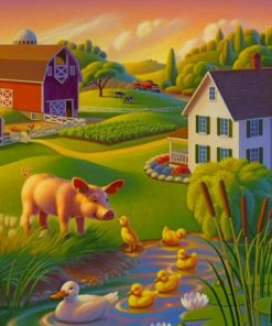 Happy Farm paint by numbers