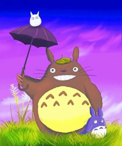 Happy Totoro paint by numbers