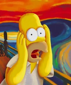 Homer Simpson In The Scream Paint by numbers