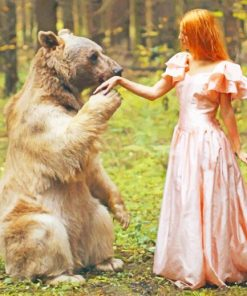 Katerina Potnikova Bear paint by numbers