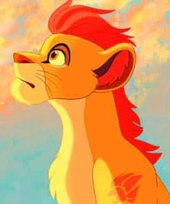 Kion Lion paint by numbers