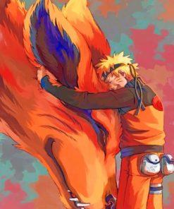 Kurama And Naruto paint by numbers