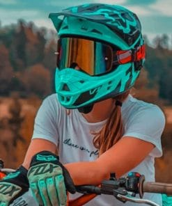 Lady Motocross Paint by numbers