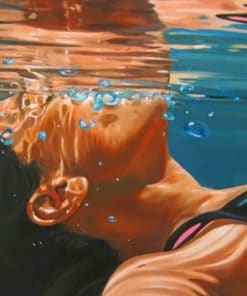 Lady Underwater paint by numbers