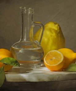 Lemon And Water Paint by numbers