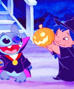 Lilo And Stitch Halloween Paint by numbers