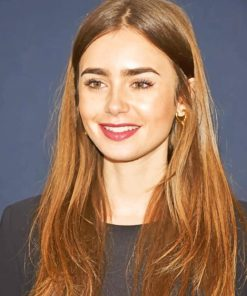 Lily Collins paint by numbers