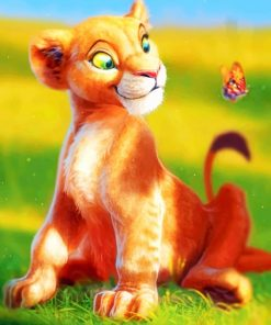 Lion King Cub paint by numbers