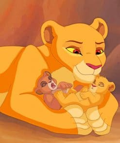 Lion King Cubs paint by numbers