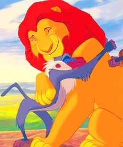 Lion King Hug paint by numbers