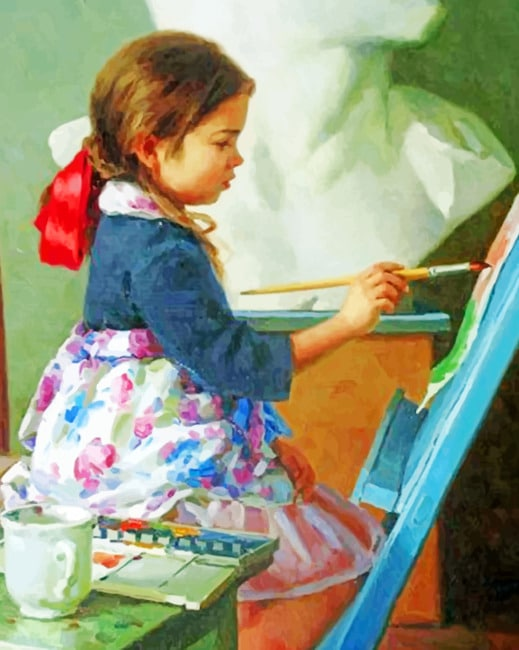 Little Artist Painting paint by numbers