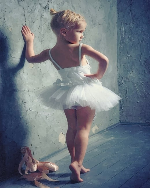 Little Ballerina paint by numbers