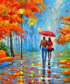 Lovers Under The Same Umbrella paint by numbers