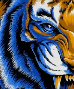 Mad Tiger paint by numbers