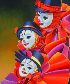 Masked People paint by numbers