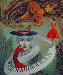 Michael Cheval Sounding Silence paint by numbers
