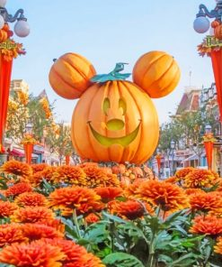 Mickey Pumpkin Paint by numbers