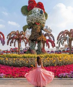 Minnie Mouse Floral Design paint by numbers