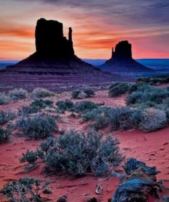 Monument Valley Desert Arizona paint by numbers