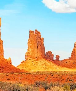 Monument Valley Desert paint by numbers