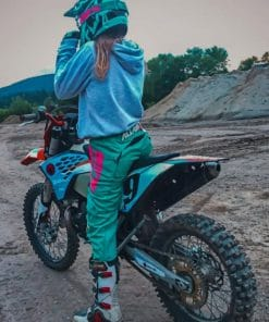 Motocross Girl paint by numbers