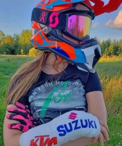 Motorcyclist Blond Girl paint by numbers