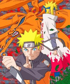 Naruto And Minato paint by numbers
