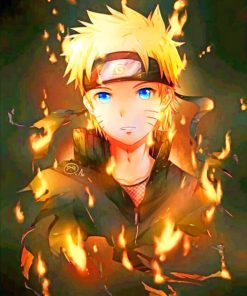 Naruto paint by numbers